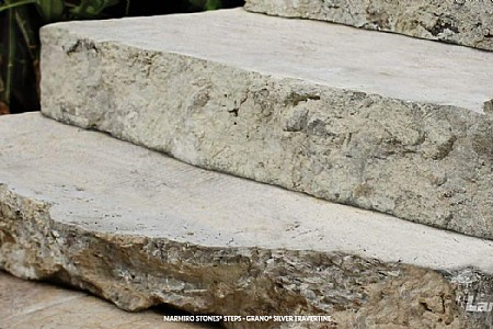 Marmiro Stones® Steps- Grano® Silver Travertine