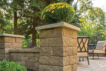 Limestone Column Cap - Natural