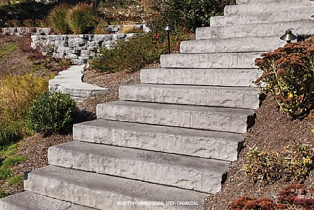 Rosetta® Dimensional Steps - Charcoal